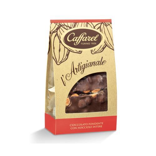 Cioccolato Fondente con nocciole intere Caramellate l'Artigianale Caffarel 200 Gr in Sacchetto