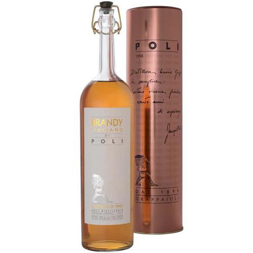 Brandy Italiano Jacopo Poli 70 Cl in Tubo Rame