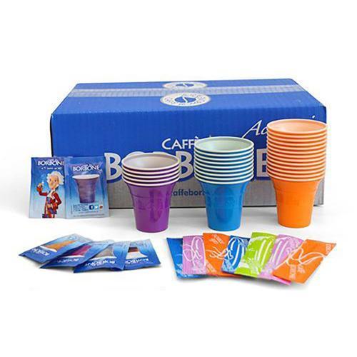 Kit Accessori Caffè Borbone (100 Bicchieri + 100 Palette + 100 Zucchero)