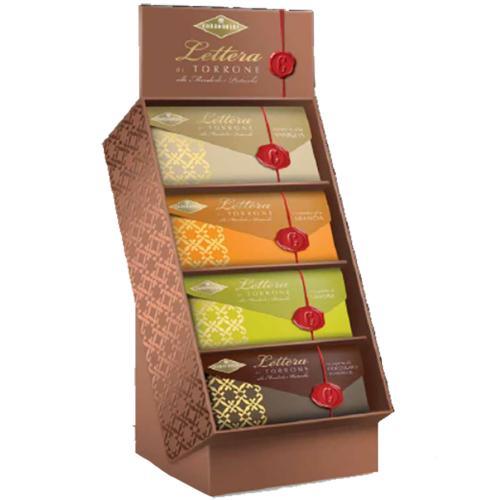 Lettera di Torrone alle Mandorle e Pistacchi ricoprto al Cioccolato fondente Condorelli 100 gr